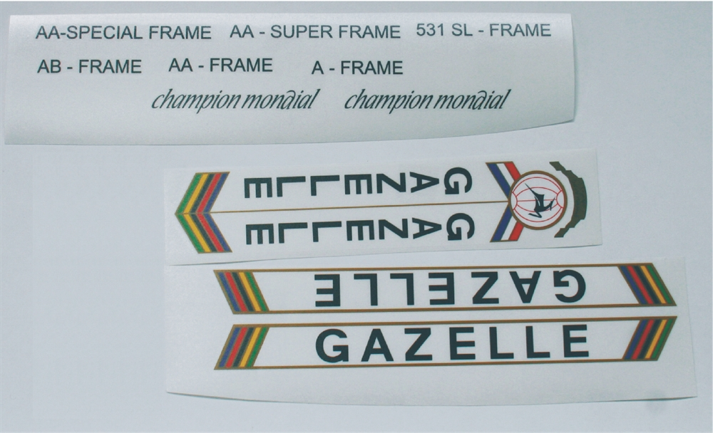 Fiets decal, sticker en/of transfer voor vintage frame, velg, bmx of carbon fiets!